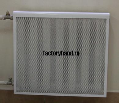 чугунный радиатор отопления с экраном