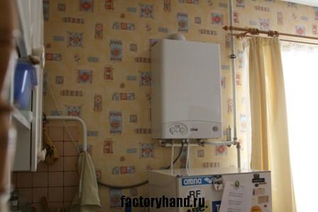 Газовый котёл на кухне.