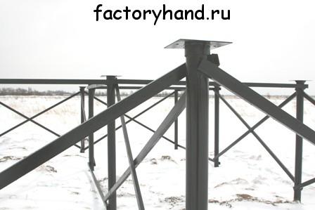 Фундамент на винтовых сваях.