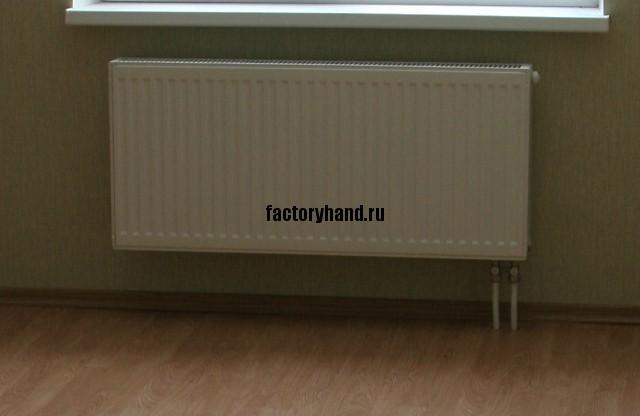 Стальной панельный радиатор отопления.