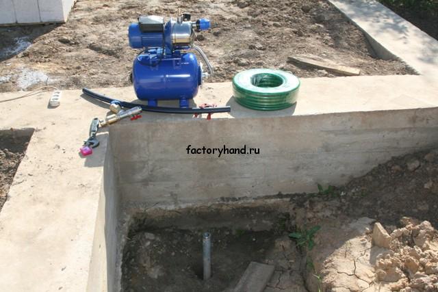 Установка станции водоснабжения.