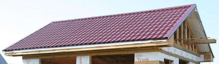 Строим двускатную крышу своими руками