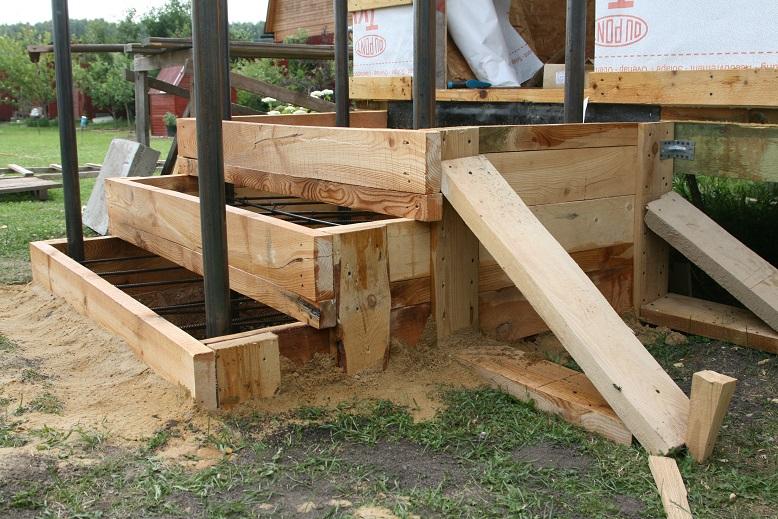 Армирование и укрепление бетонной лестницы